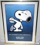 Snoopy throwing discus Metlife Poster
