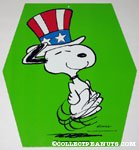 Uncle Sam Snoopy cardboard hanging sign