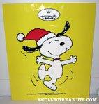 Snoopy Dancing 'Joy' Hallmark Bag