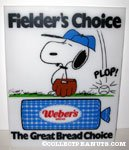 Snoopy 'Fielder's Choice' Dodgers Stadium Advertising for Weber's Bread