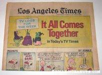 L.A. Times February 3, 1974 Comics Section