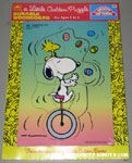 Snoopy on Unicycle juggling Eggs with Woodstock on his head Puzzle