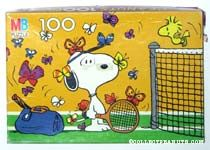 Snoopy and Woodstock playing Tennis with Butterflies Puzzle