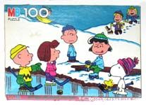 Peanuts playing Hockey Puzzle