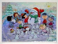 Peanuts building Snowmen Puzzle
