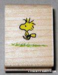 Woodstock walking in grass Rubber Stamp