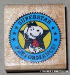 Joe Cool walking 'Superstar Performance' Rubber Stamp