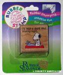 Snoopy at Typewriter Rubber Stamp