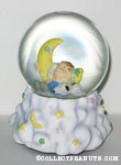 Snoopy and Linus asleep on moon Snowglobe