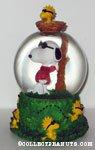 Snoopy Joe Cool and Woodstock Snowglobe