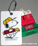 Snoopy with golf bag Golf Bag Tag