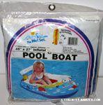 Snoopy waterskiing Pool Boat