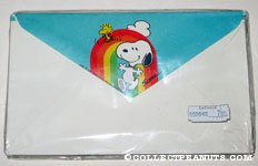 Snoopy & Woodstock under rainbow Envelopes