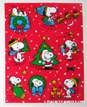 Peanuts & Snoopy Christmas Stickers