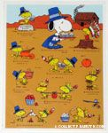 Peanuts & Snoopy Thanksgiving Stickers