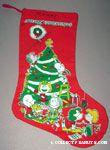 Peanuts Gang around Christmas tree Stocking