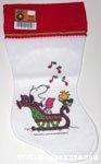 Snoopy & Woodstock carolling in sleigh Stocking