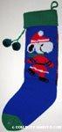 Santa Snoopy skating Knit Christmas Stocking