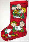 Peanuts Gang carolling Stocking