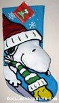 Snoopy & Woodstock Sledding Christmas Stocking