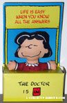 Lucy Psychiatrist Booth 'Life is easy when you know all the answers' Doll