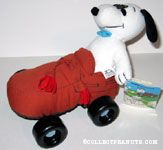 Snoopy driving brown loafer shoe car Putt Pups Plush