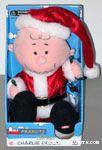 Animated Santa Charlie Brown with lights Plush