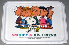 Peanuts Gang standing around Tray