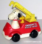 Snoopy's Rescue Squad Push N Pull Car