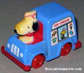 Snoopy driving Ice Cream Van