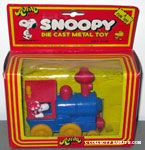 Snoopy driving Train Engine