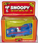 Snoopy driving blue race car - large figure