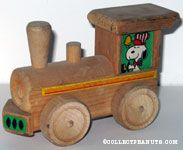 Snoopy Wooden Train Engine