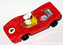 Snoopy in Red Race Car