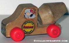 Snoopy's Cement Company Wooden Car