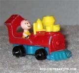 Charlie Brown in Train Engine