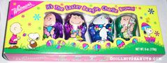 Charlie Brown, Lucy, Snoopy & Linus Foil-covered Hollow Milk Chocolate Easter Figures