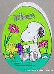 Snoopy & Woodstock smelling flowers Egg-Shaped Chocolate Box