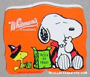 Snoopy eating treats wearing cape & Woodstock wearing witch hat Halloween Chocolate Box