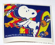 Snoopy on Skateboard Sticker from surprise tin