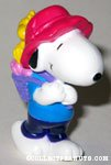Snoopy with backpack of hearts & Woodstock Valentine's PVC Figurine