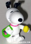 Snoopy with easter basket and egg PVC figurine