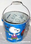 Snoopy playing basketball Pail