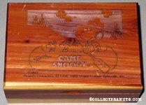 Knott's Camp Snoopy Cedar Laser Carved Trinket Box