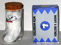 Snoopy at typewriter Boot Glass with Cork
