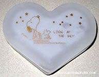 Snoopy & Woodstock looking at stars in the sky Frosted Glass Trinket Box