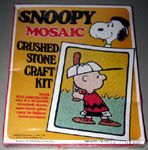 Charlie Brown at Bat Mosaic Crushed Stone Craft Kit