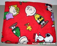 Peanuts Gang Red Fleece Fabric