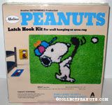 Snoopy playing golf Latch Hook Kit