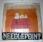 Snoopy & Woodstock on Doghouse Needlepoint Kit